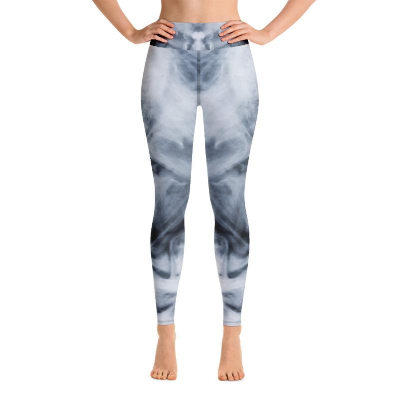Dark Smoke Clouds Yoga Leggings The Skullection