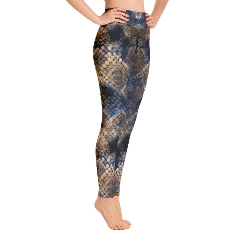 Cobra Snake Skin Yoga Leggings The Skullection