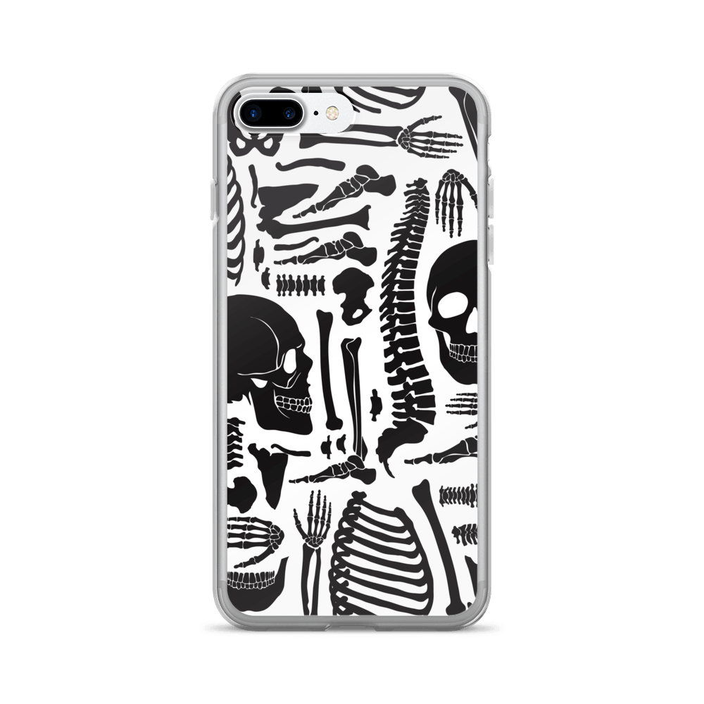 Monochrome Human Skeleton Parts iPhone Case The Skullection iPhone 7 Plus/8 Plus