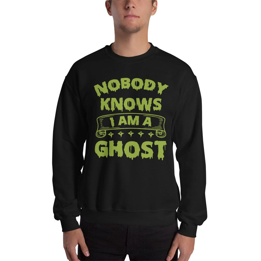 Nobody Knows Ghost Sweatshirt The Skullection Black S
