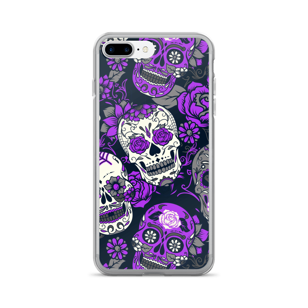 Purple Sugar Skull iPhone Case The Skullection iPhone 7 Plus/8 Plus
