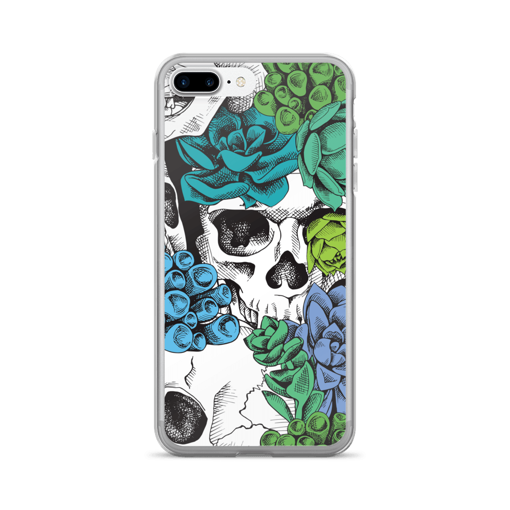 Skull And Succulent Plant iPhone Case The Skullection iPhone 7 Plus/8 Plus