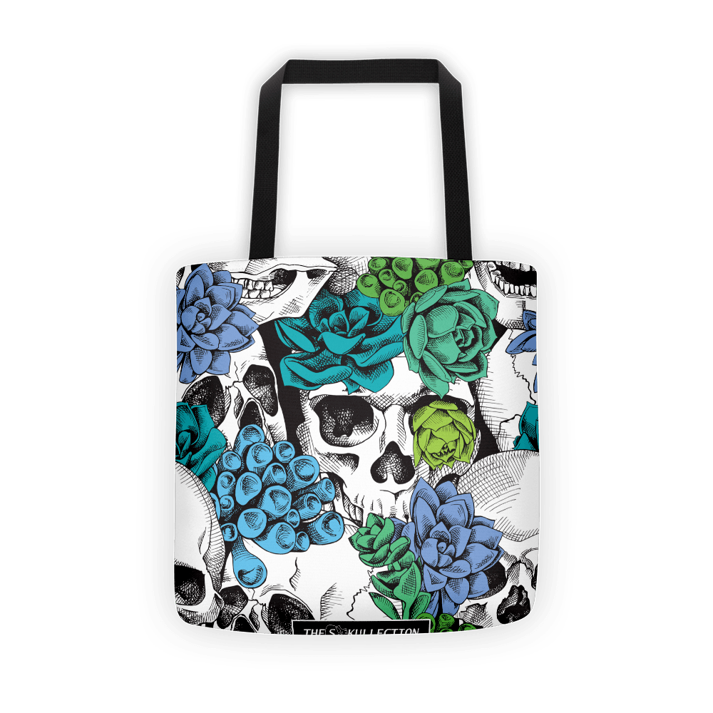 Skull And Succulent Plant Tote Bag The Skullection