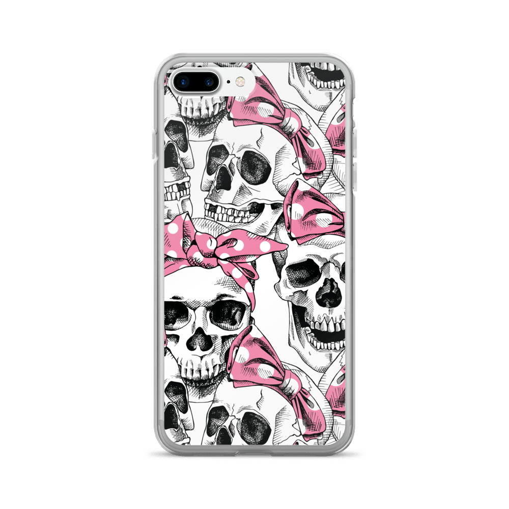 Skull In Pink Headband iPhone Case The Skullection iPhone 7 Plus/8 Plus