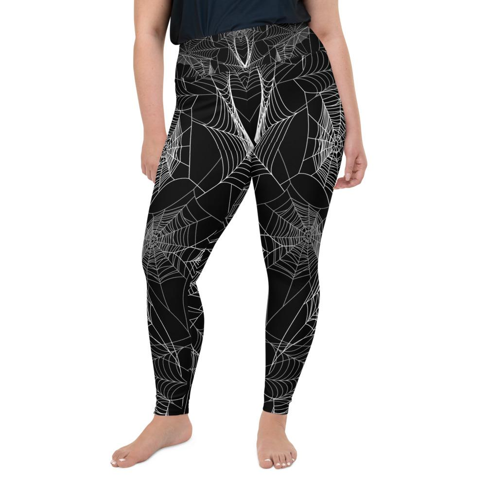 Spider Web Plus Size Leggings The Skullection 2XL