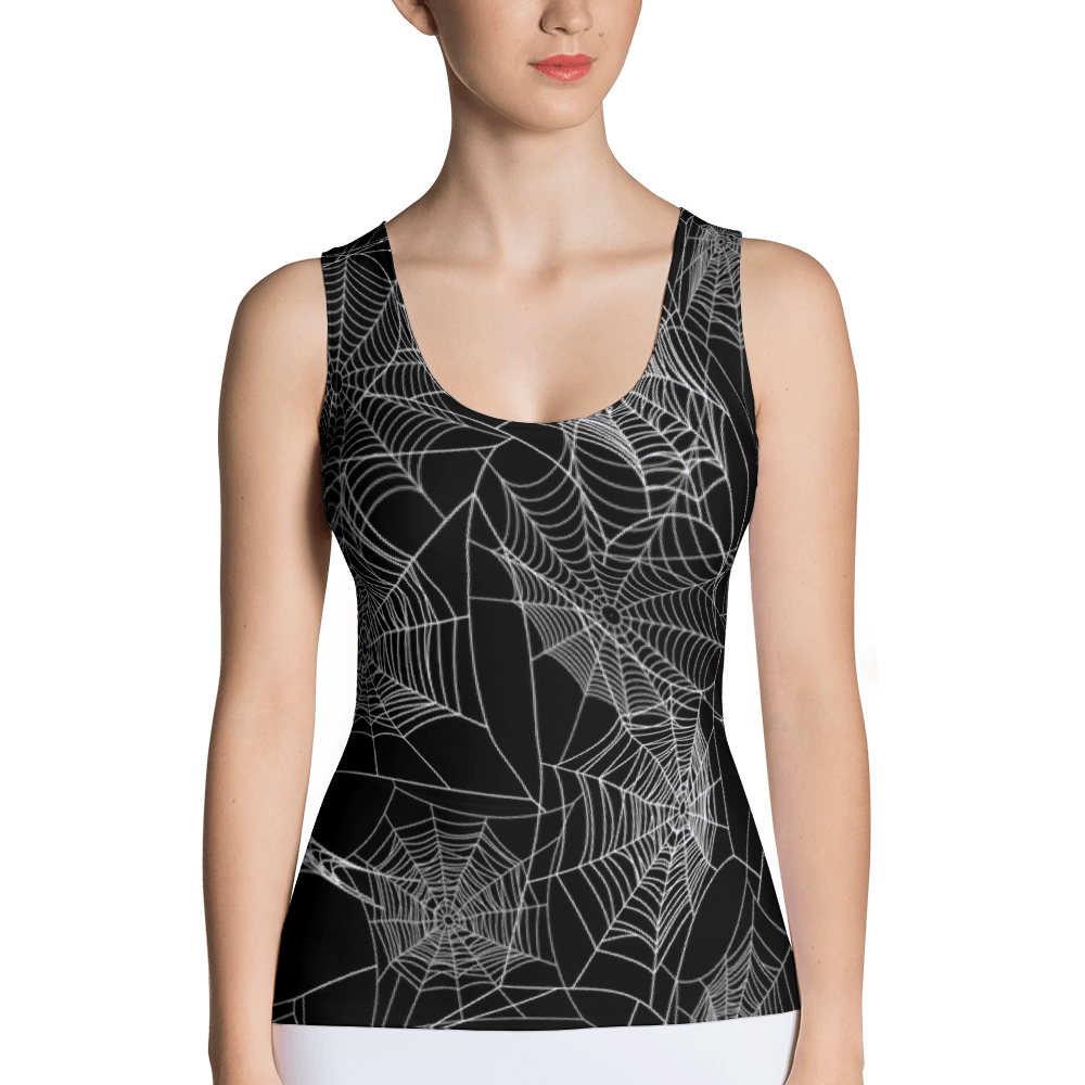Spider Web Tank Top The Skullection XS