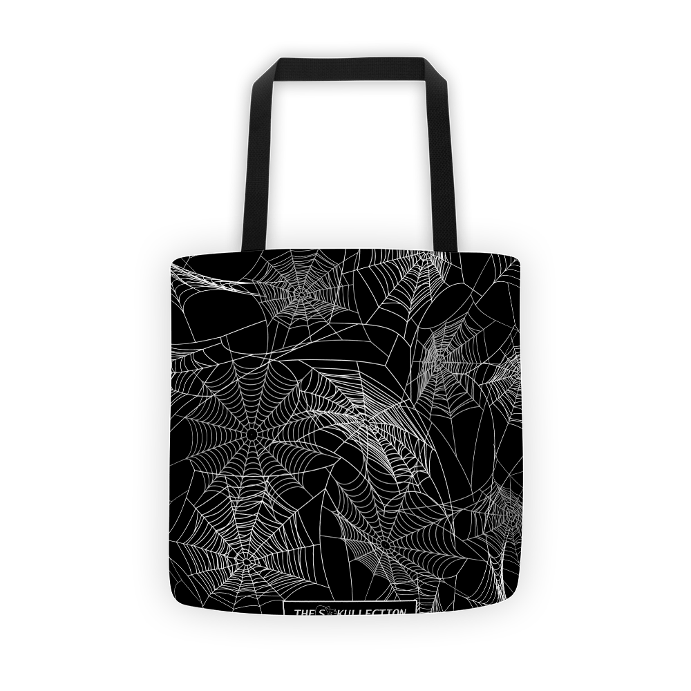 Spider Web Tote Bag The Skullection