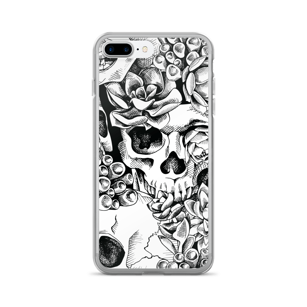 Succulent Plant Skull Flowers iPhone Case The Skullection iPhone 7 Plus/8 Plus
