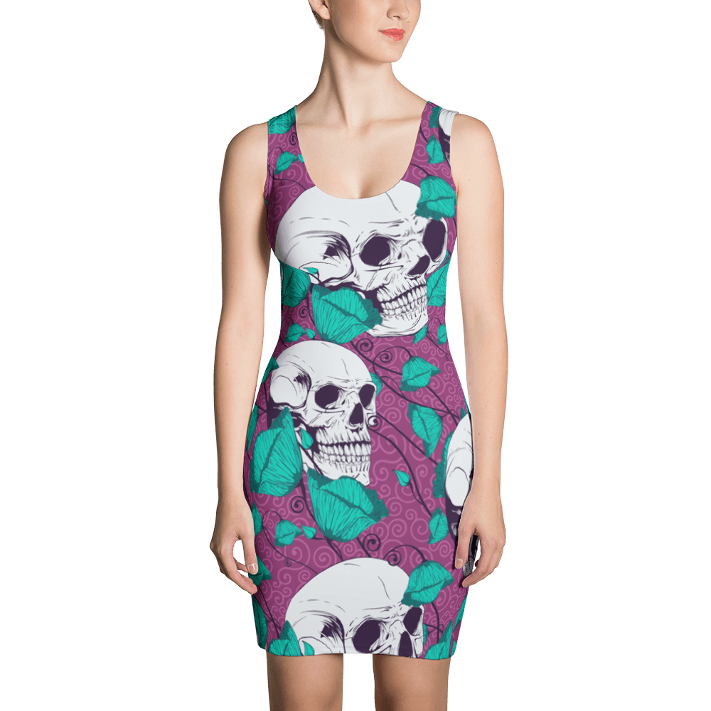 Sugar Flowers With Skulls Dress The Skullection XS
