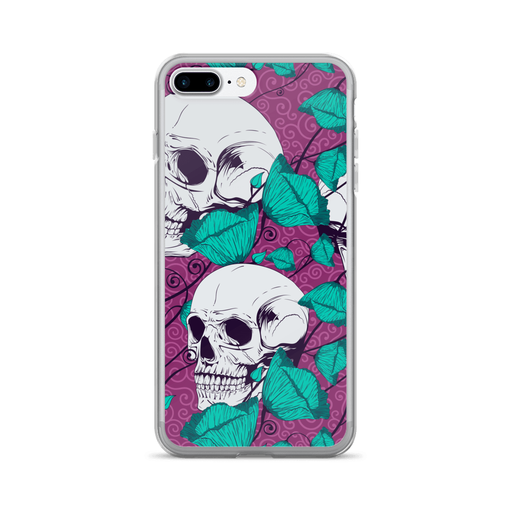 Sugar Flowers With Skulls iPhone Case The Skullection iPhone 7 Plus/8 Plus