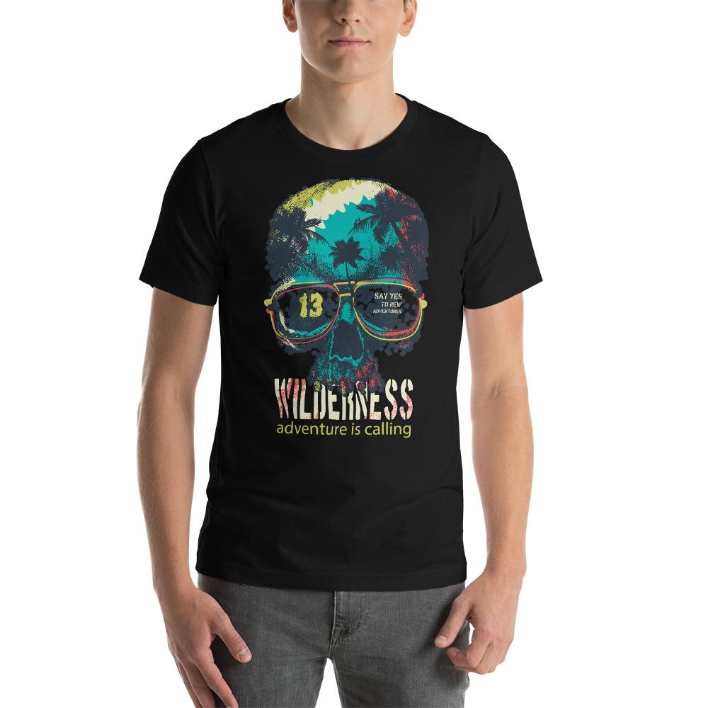 Vintage Typography Skull T-Shirt The Skullection Black XS