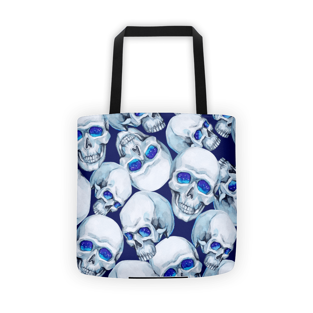 Watercolor Mystic Skulls Tote Bag The Skullection