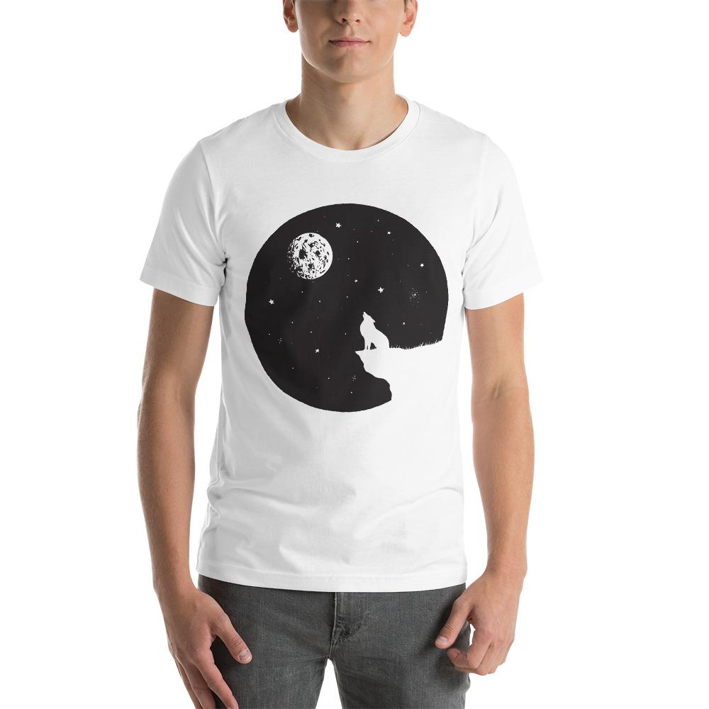 Wolf Sits On A Breakage T-Shirt The Skullection White XS