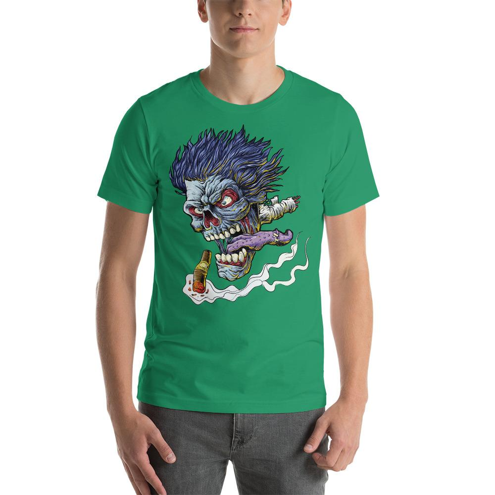 Zombie Flying Head T-Shirt The Skullection Kelly XS