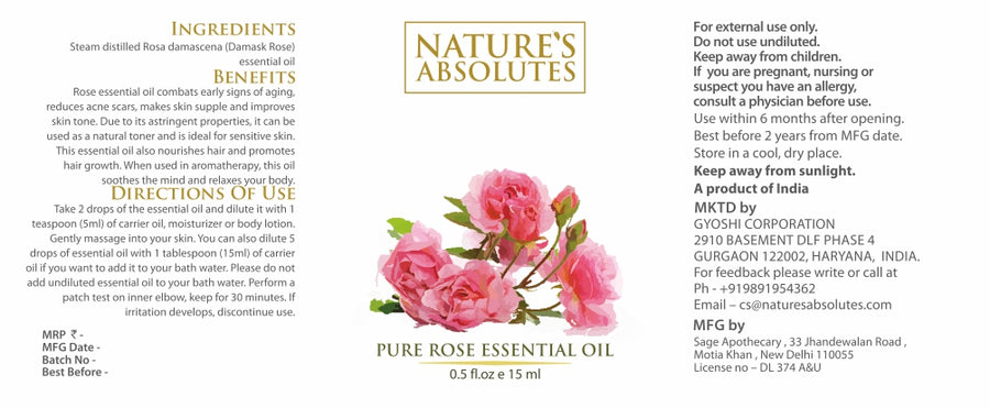 Rose Essential Oil (15 ml)