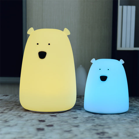 Cartoon bear nursery night light