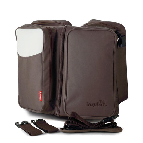 Handy travel bassinet and diaper bag 2-in-1