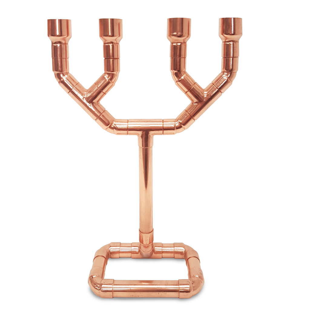 The 4-Candle Punk - Copper Pipe Candle Holder - Great wedding gift idea