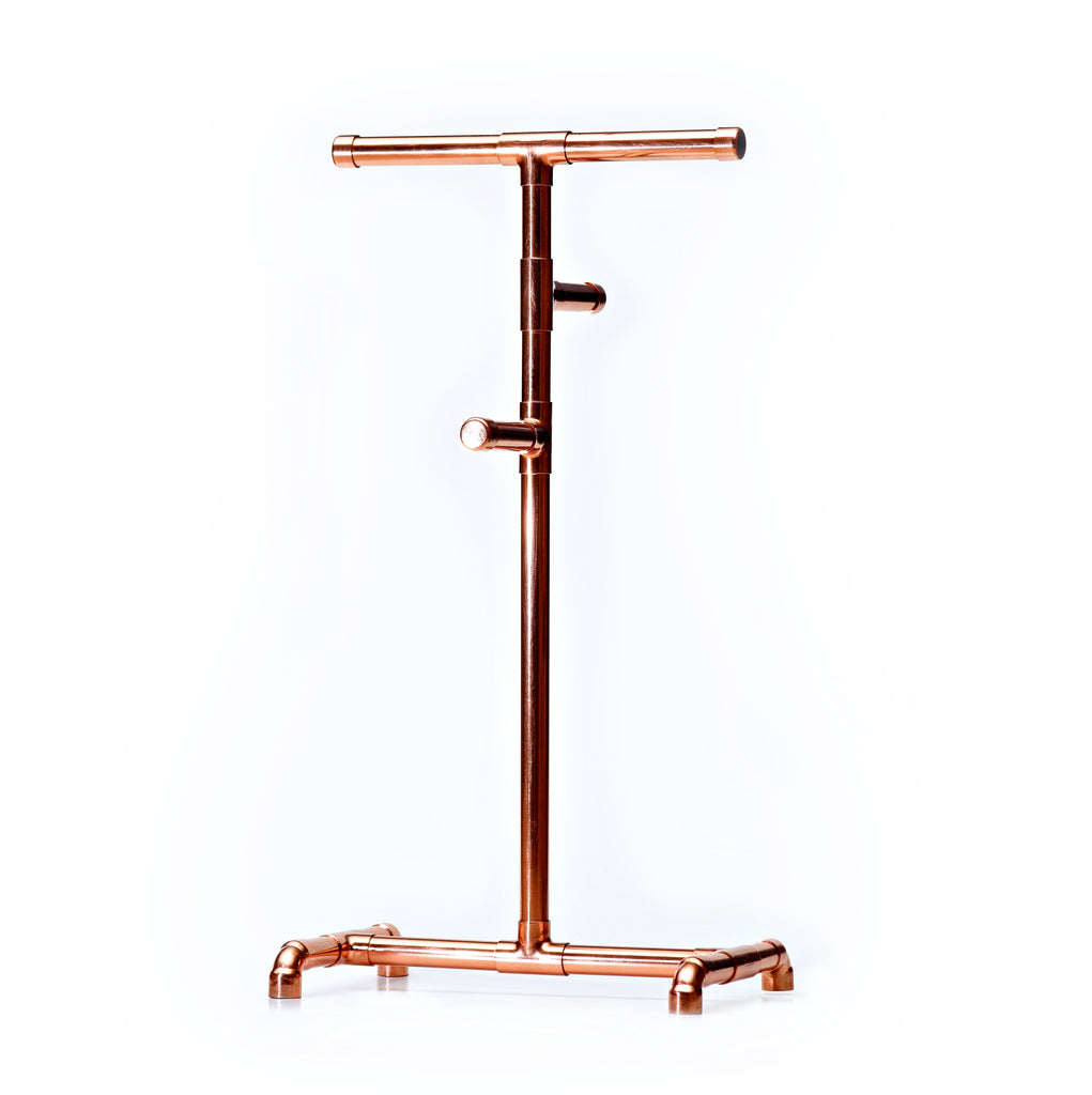 Copper pipe jewelry rack for necklaces and chains for sale in South Afric
