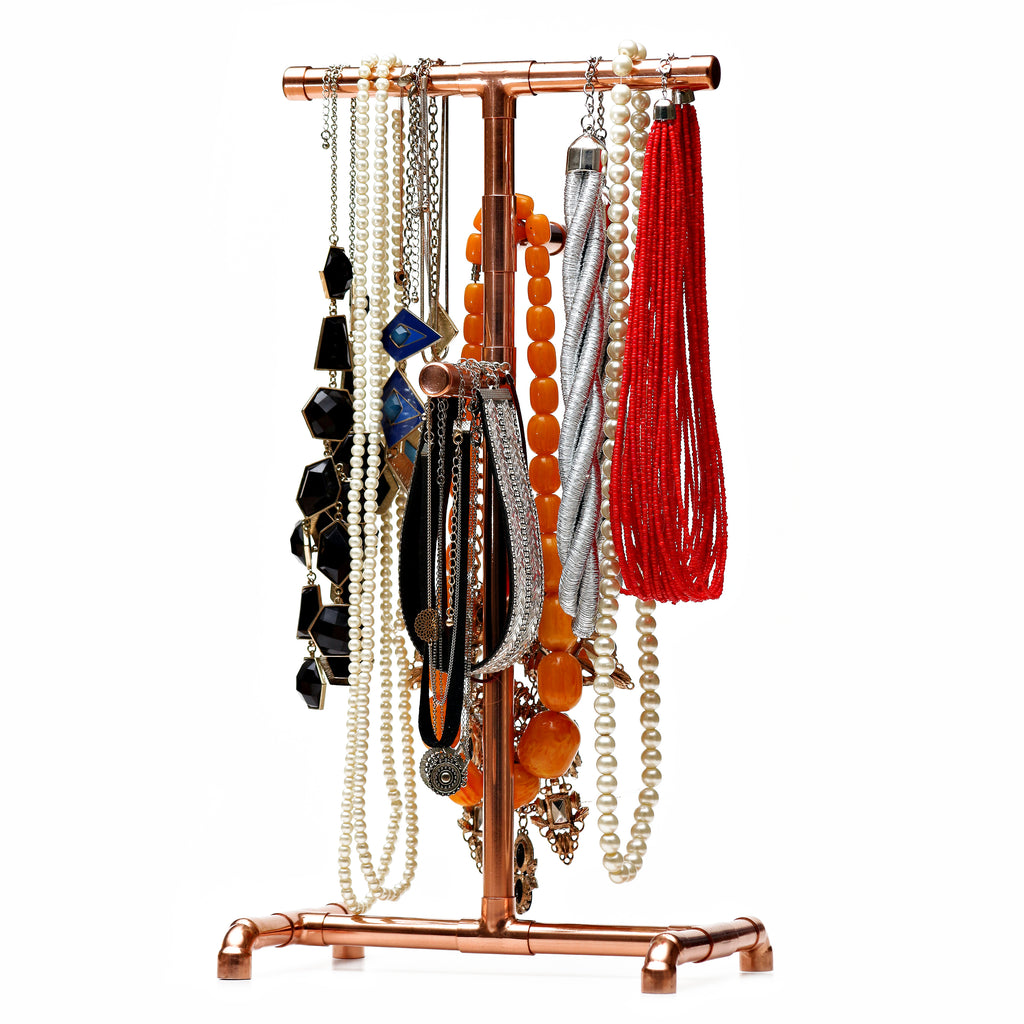 Copper pipe jewellery rack for necklaces and chains for sale in South Africa