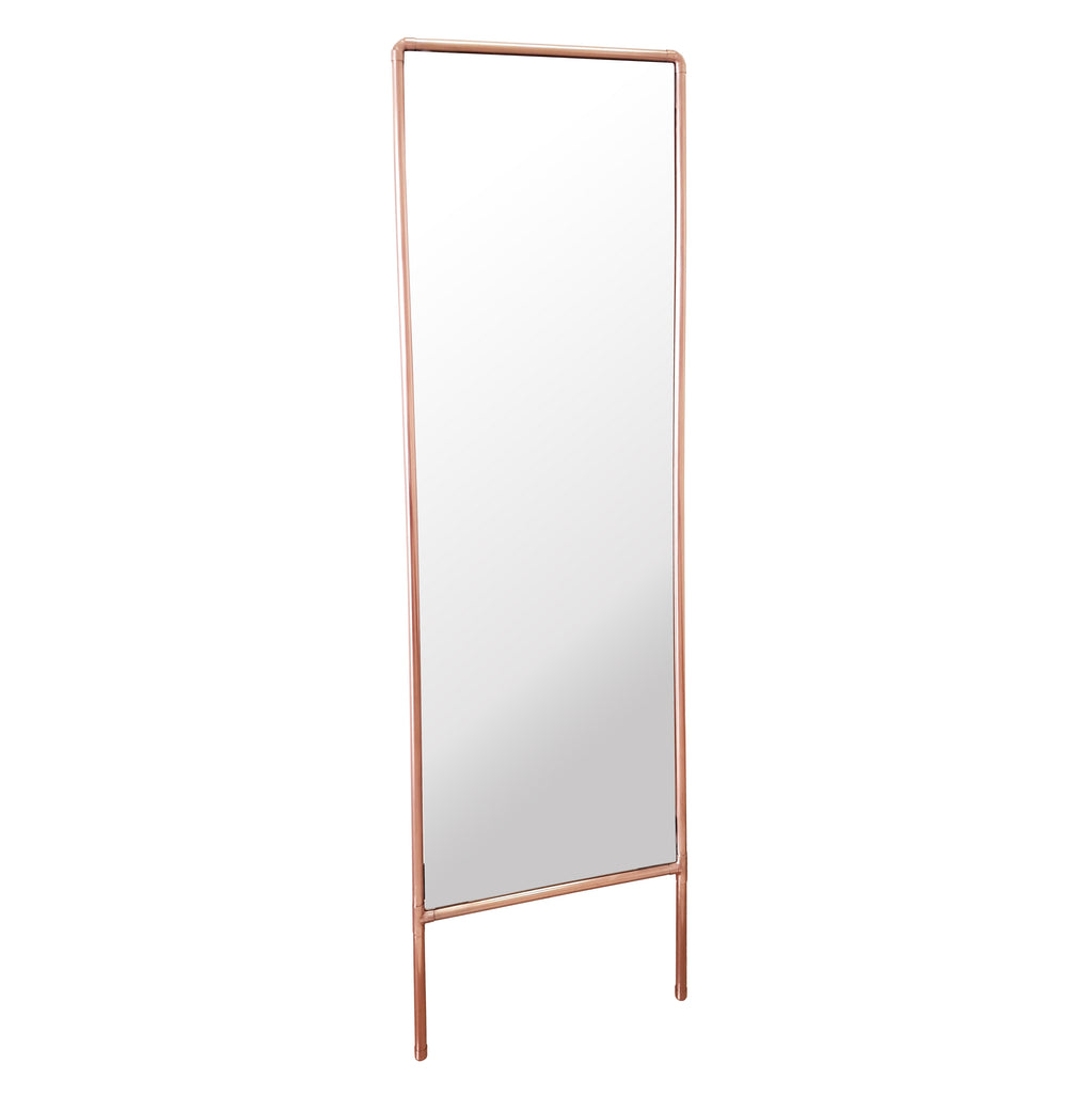 Steam Punk'd full length leaning mirror. The reflective punk, made out of sturdy copper piping.