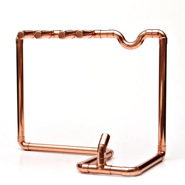 Wine punk - Copper Pipe Wine Bottle Stand - for sale in South Africa.