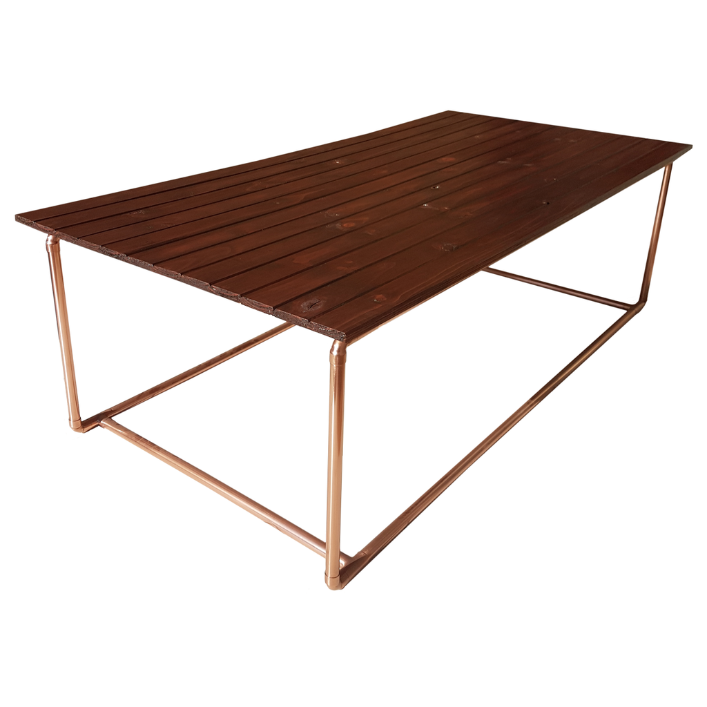 Bespoke copper pipe coffee table for sale - South Africa