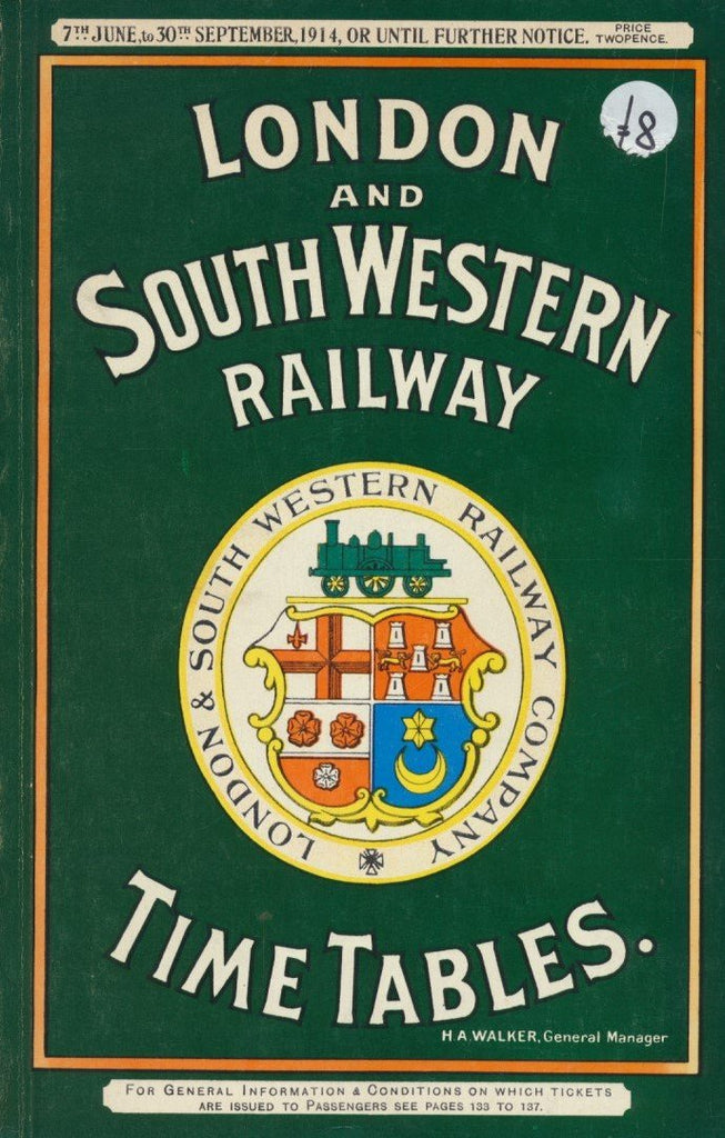 London And South Western Railway Timetables For June- September 1914