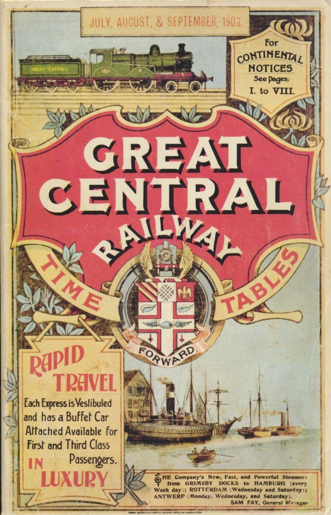 Great Central Timetable July, August, September 1903 (Reprint)