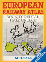 European Rail Atlas - Spain, Portugal, Italy, Greece