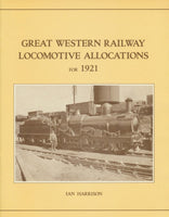 Great Western Railway Locomotive Allocations for 1921