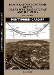 Track Layout Diagrams of the GWR - 46B Pontypridd - Cardiff