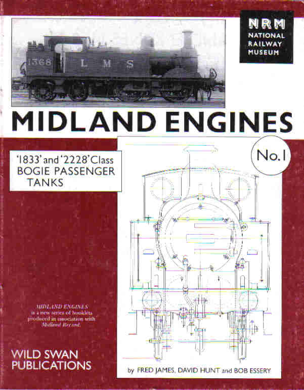 Midland Engines No. 1 - '1833' and '2228' Class Bogie Passenger Tanks