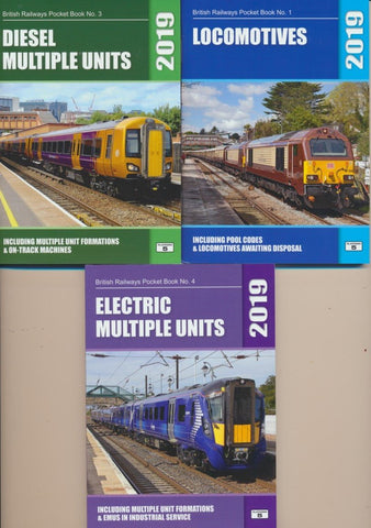 Platform 5 2019 set of Three Pocket Books - Loco, DMU & EMU