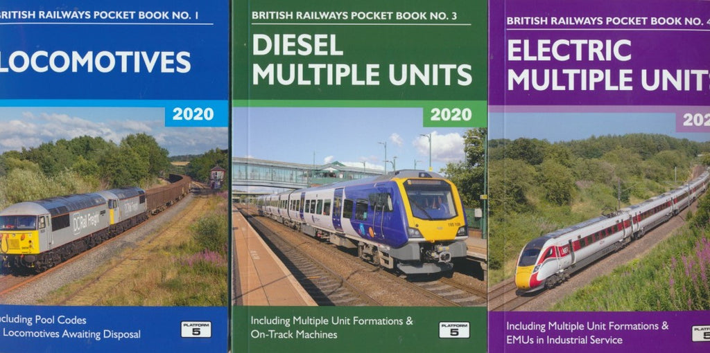 Platform 5 2020 set of Three Pocket Books - Loco, DMU & EMU