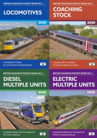 Platform 5 2020 set of Four Pocket Books - Loco, Coaches, DMU & EMU