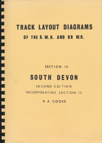 Track Layout Diagrams of the GWR and BR (WR) - Section 14 (incorporates Section 13)