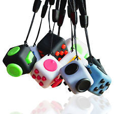 Mini Fidget Cube - 11 Colors to Choose From - With Wrist Strap