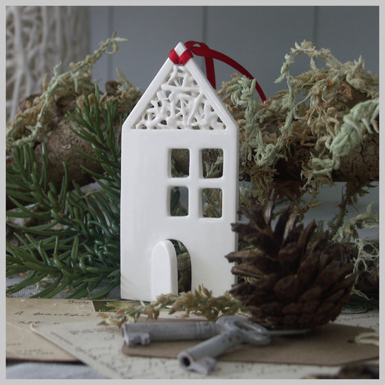 Tangled House - Ceramic Hanging Decoration