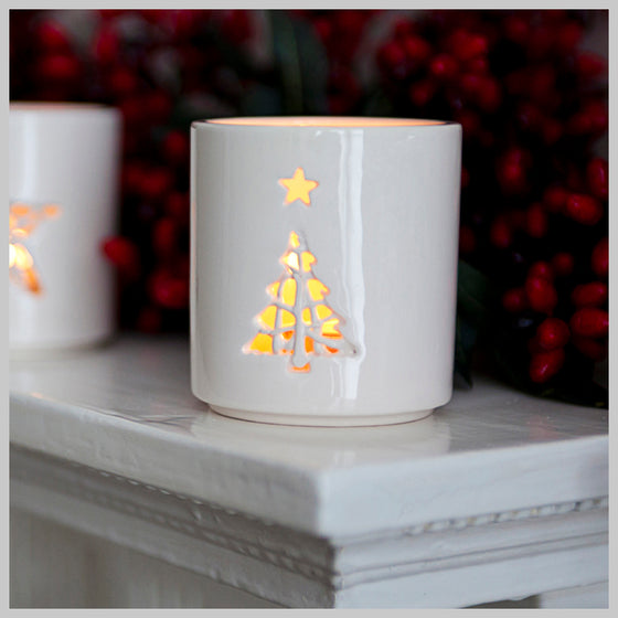 Tangled Christmas Tree Motif Tea Light Holder