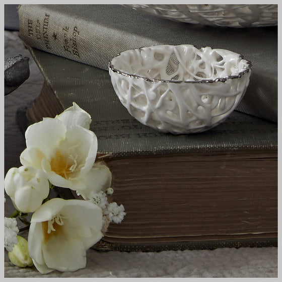 Tangled Web Tiny Decorative Bowl with Lustre detailing