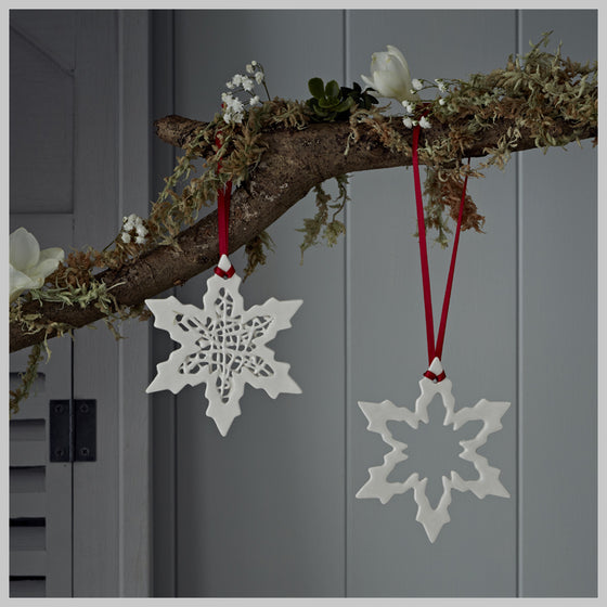 Tangled Snowflake and Snowflake Christmas Decoration