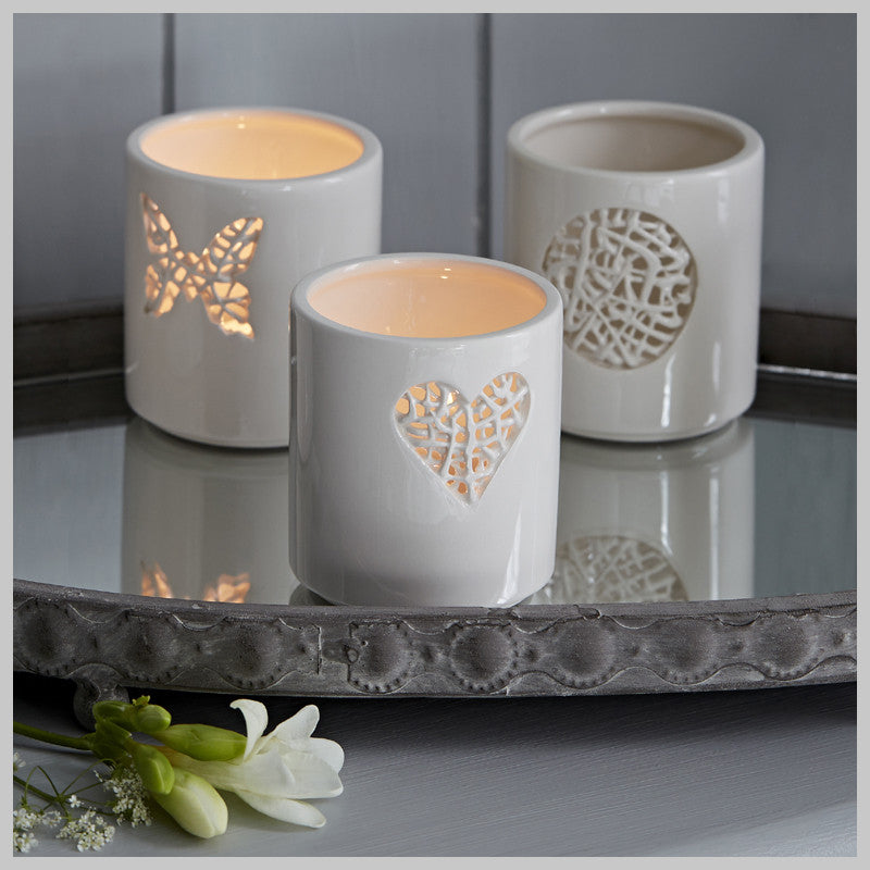 Set of 3 Tangled Motif Tea Light Holders
