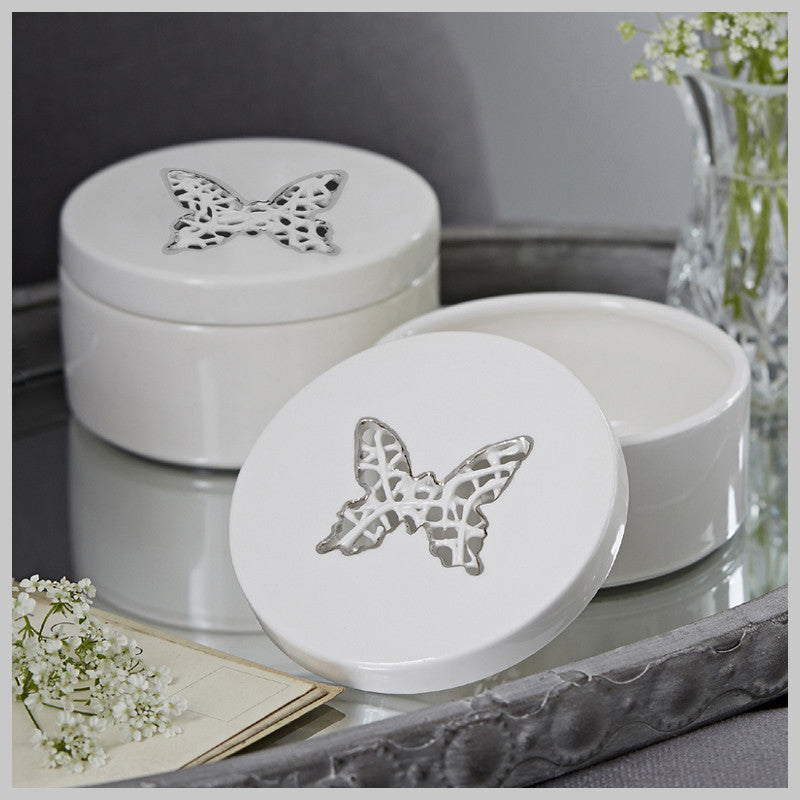 Tangled Butterfly Trinket Box with lustre detailing