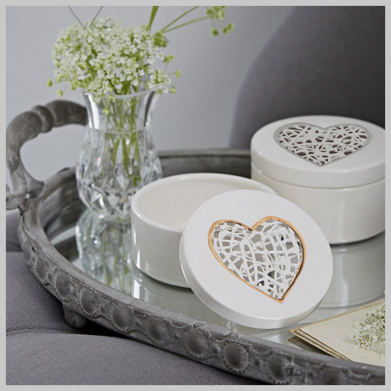 Tangled Heart Trinket Box with lustre detailing