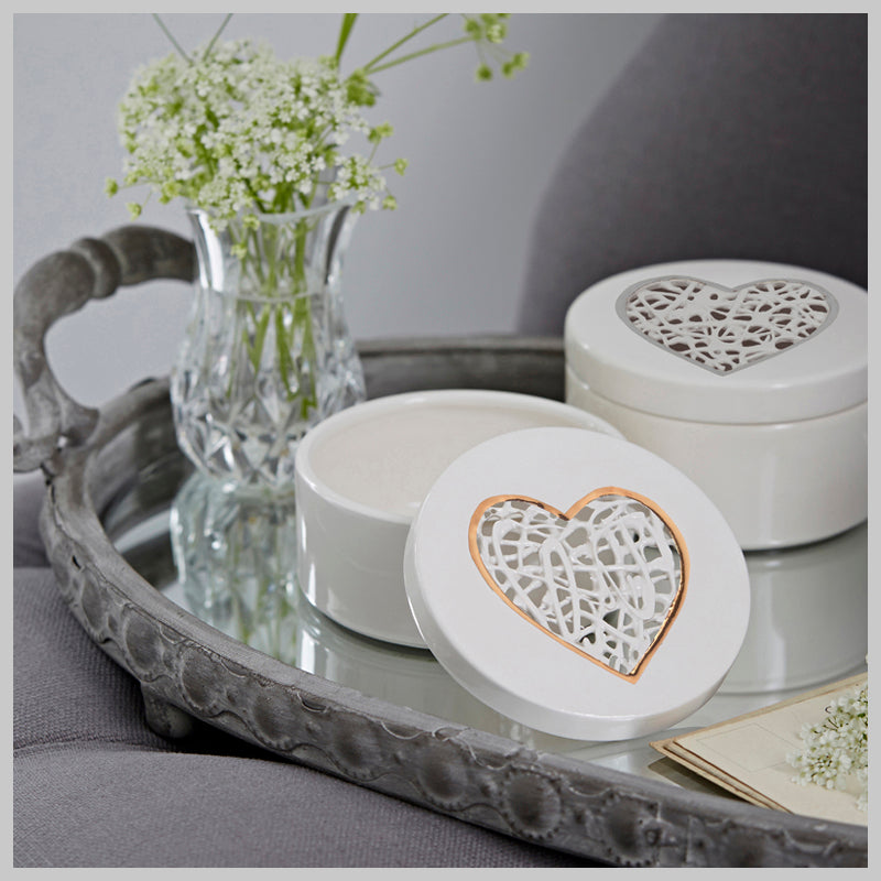Tangled Heart Gift Collection with Gold lustre detailing
