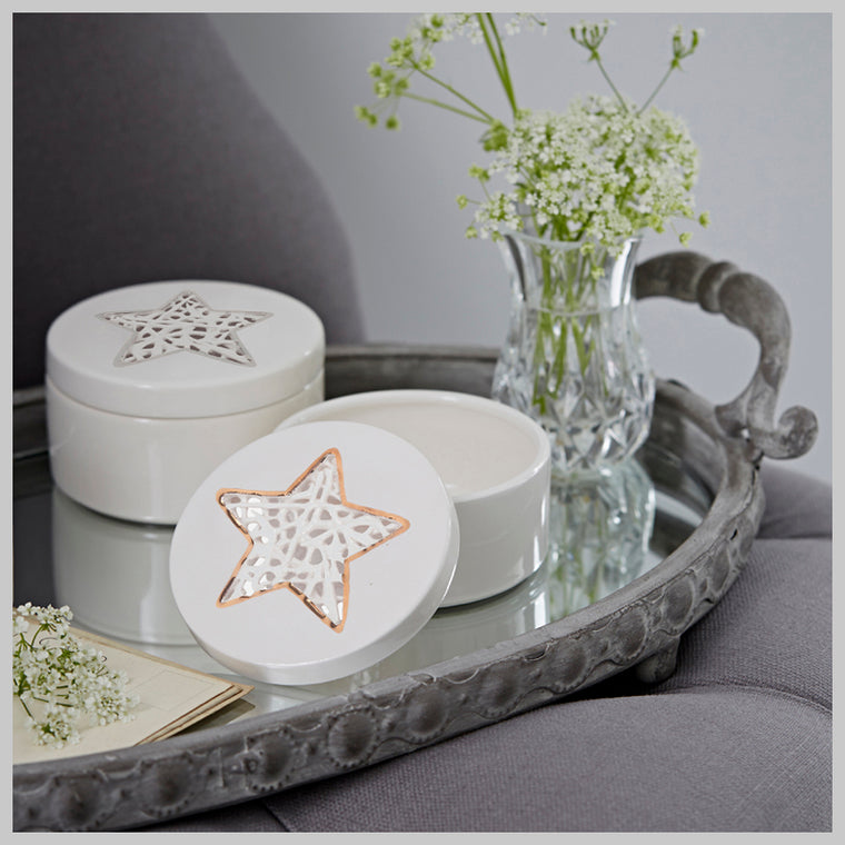 Tangled Star Trinket Box with lustre detailing