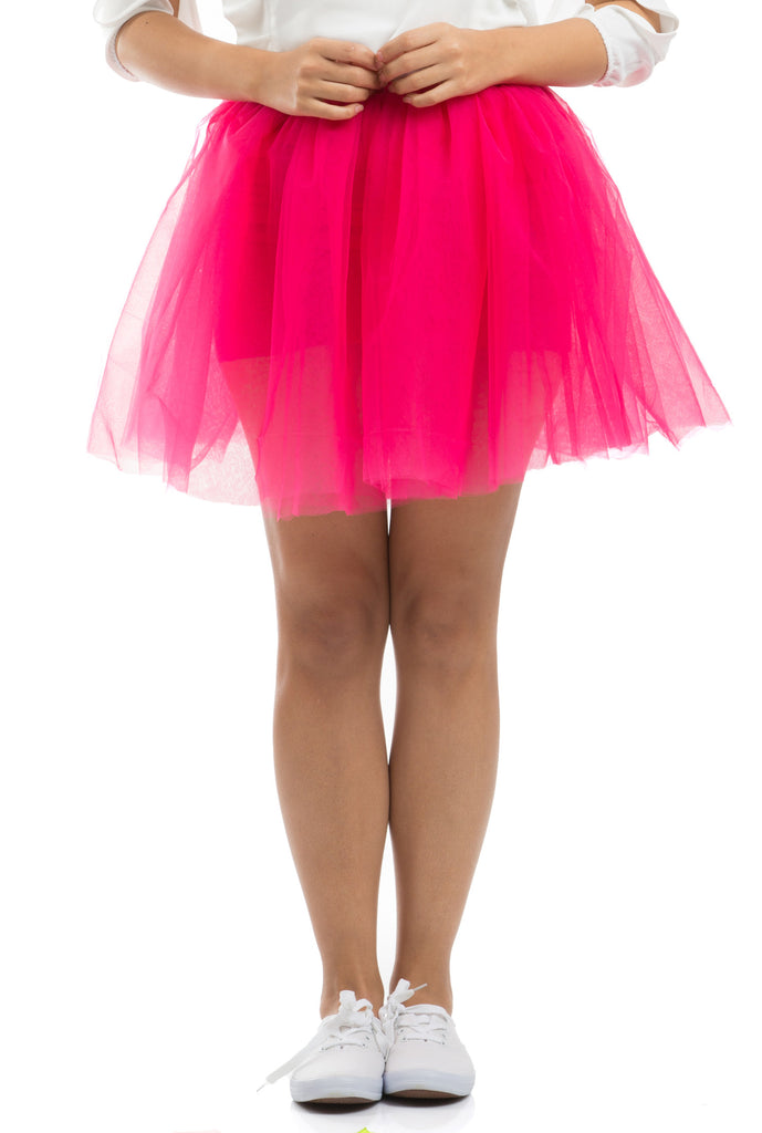 Fluffy Puffy Tutu Skirt - Fuchsia