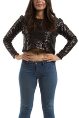Sequin Top - Black