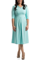 The Royal Pleated Dress - Mint